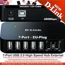 D-Link USB 2.0 Powered Hub 7-Port Fast for Laptop PC MAC 480Mbits DUB-H7 EU Plug