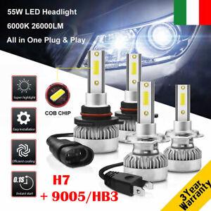 110W-H7-amp-9005-HB3-26000LM-Auto-LED-Fari-Lampadine-Xenon-Bianco-6000K-2-Coppie
