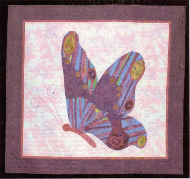 "Applique Quilt Pattern by Quilt Country ""Papillon I"" (40"" x 42"" Butterfly Quilt)"