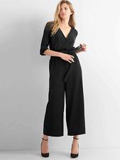 14d32ea0768 Gap Women s Black Kimono Sleeve Tie-Belt Wide-Leg Jumpsuit Size 12 ...