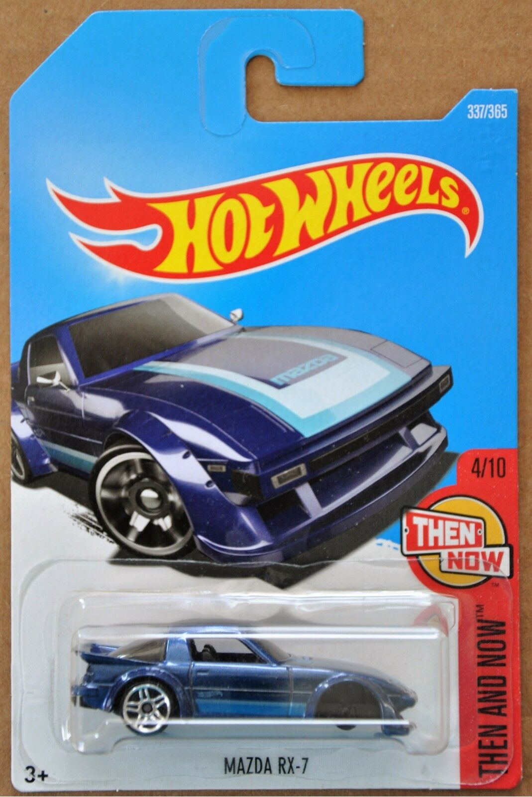 2017 Hot Wheels Mazda RX-7 337 365 Then and Now 4 10 ERROR MISSING WHEELS