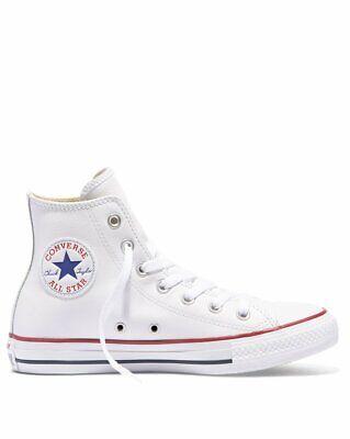 Converse All Star Chaussures Hommes Haute Femme Chuck Taylor Blanc Cuir Blanche eBay eBay
