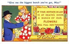 POSTCARD  COMIC    Florist   Mother  in  Law    Theme