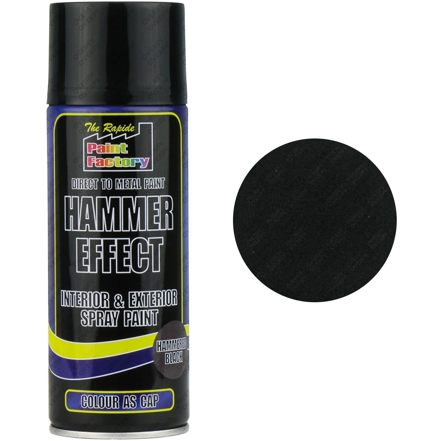 1 x black hammer effect spray paint can interior exterior - How fast does exterior paint dry ...