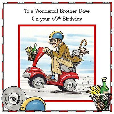 Mens Handmade Personalised Birthday Card Walking Stick Pensioner ANY AGE Car