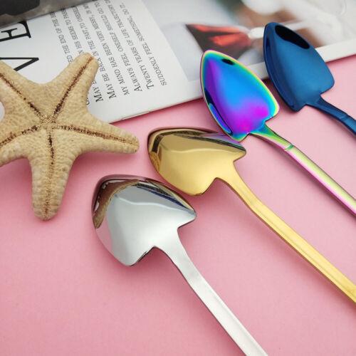 Flatware Gift Idea Coffee Dessert Spoon Stainless Steel Shovel Shaped Teaspoon