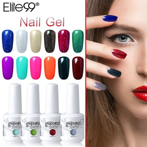 Colour Gel Polish Varnish Base Top Coat Elite99 Manicure 15ML Nail Art AU STOCK