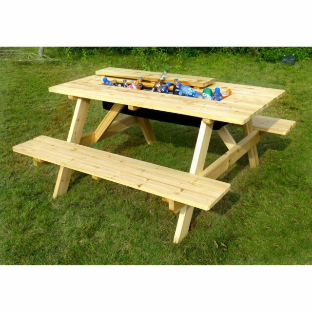 Surprising Merry Garden Cooler Picnic Table Kit Gmtry Best Dining Table And Chair Ideas Images Gmtryco