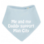 PERSONALISED BABY BIB or BANDANNA NEWBORN FOOTBALL TEAM GIFT SHOWER MAN UTD//CITY