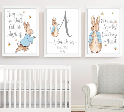 Peter Rabbit Boys Nursery Prints Set Of