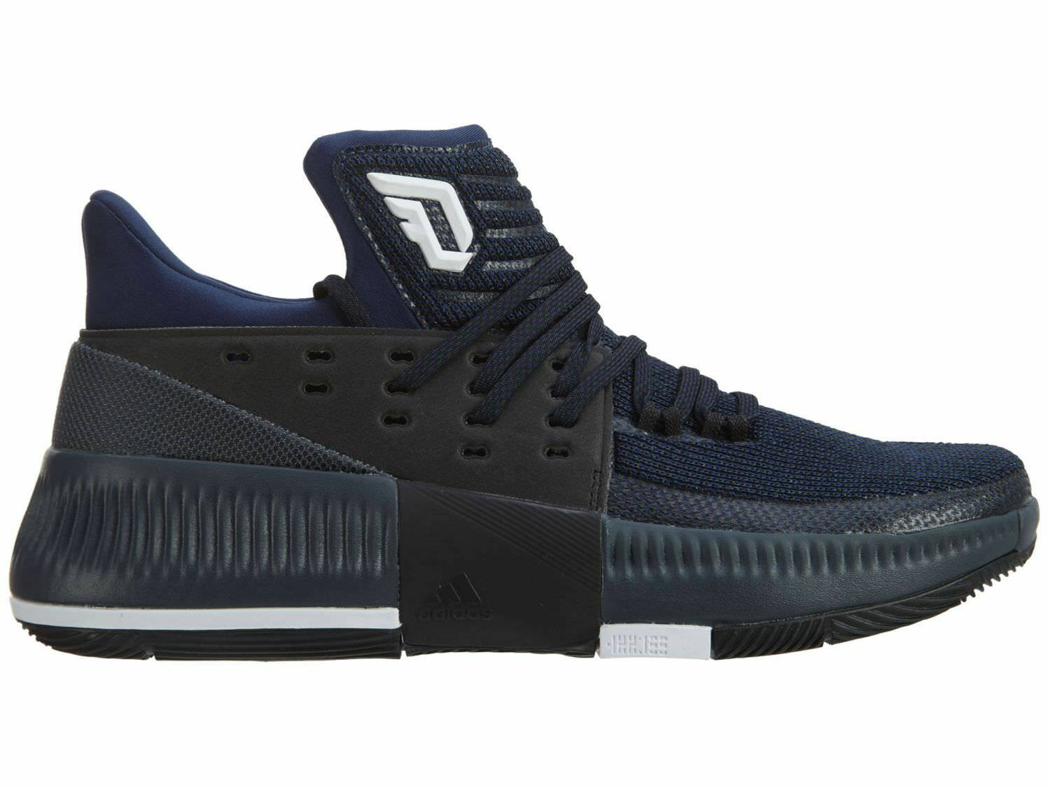 Adidas Dame  3 By Any Means  Dame Uomo BB8271 Dark Blau Lillard Basketball Schuhes Größe 9 4a33cd
