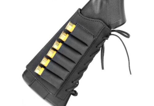 Leather Shotgun Shell Holder Cartridge Ammo Holder for Rifles 12ga