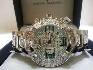 Mens-Aqua-Master-Jojo-Jojino-Joe-Rodeo-St-st-Metal-Band-45mm-Diamond-Watch-W-96