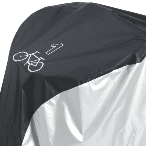 Silver Black Heavy Duty Water Resistant 190D Cover Case for 1 Mountain Road Bike