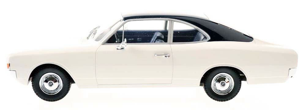 Minichamps 107047021 OPEL REKORD C Coupé 1966 bianco con tetto blu 1 18 NuovoScatola Originale