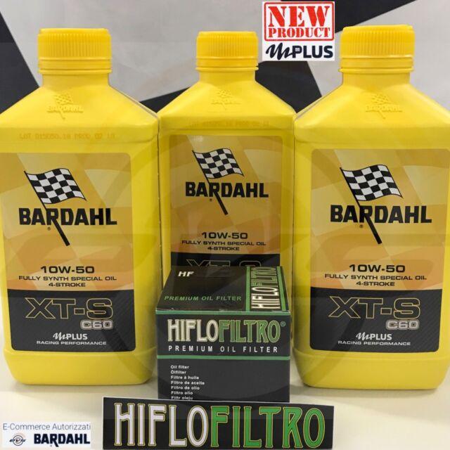 Kit 3 Litri BARDAHL XT-S XTS C60 10W50 mPlus MOTO + FILTRO OLIO HIFLO OMAGGIO