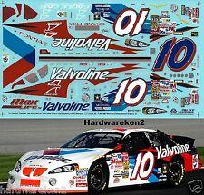 NASCAR DECAL #10 VALVOLINE 2003 PONTIAC GRAND PRIX JOHNNY BENSON  SLIXX