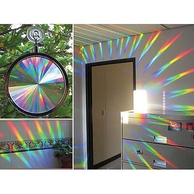 Prismatic Sun Catcher Choice Axicon or Crystal Rainbow Window great Feng Shui US