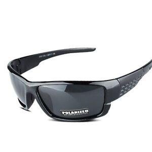 b8faa6bb72 Image is loading Polarized-Sunglasses-Black-Sport-Plastic-Outdoor-Driving- Fishing-