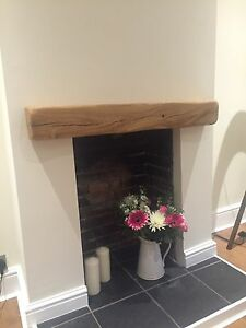 Image Is Loading Solid Oak Fireplace Mantel Beam Handmade Mantle Piece