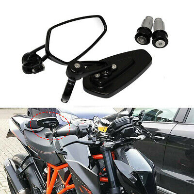 FINCOS 10mm 8mm Universal Motorbike Side Mirrors Motorcycle Rearview Mirror for KTM 1290 Super Duke R 1290SUPER 640 LC4 Supermoto