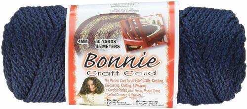 Bonnie Macrame Craft Cord 4mmX50yd-Navy