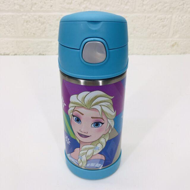 Disney FROZEN Elsa & Anna Thermos 12oz Water Bottle Insulated Stainless Steel