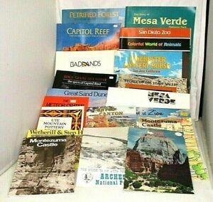 Vintage-Lot-of-19-1960s-70s-Travel-Western-USA-Books-Brochures-Leaflets-Booklets
