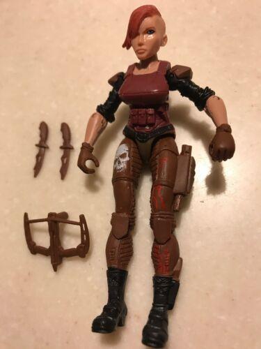 """Remaniée sort Lanard 3.75/"""" custom figure féminine GI JOE Type Soldat Mercenary loose"""