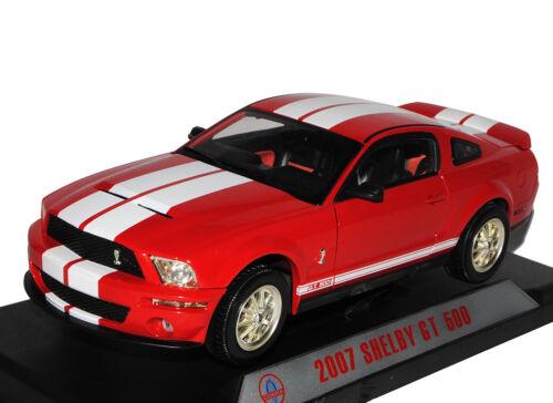 Generation Shelby GT-500 Rot mit Weißen Streifen 2007 2004-200 Ford Mustang V 1