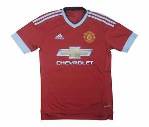 Manchester United 2015-16 ORIGINALE Maglietta (eccellente) XS Soccer Jersey