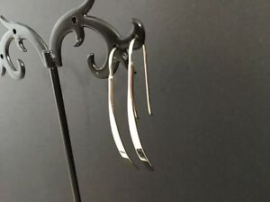 Genuine-925-Sterling-Silver-Solid-Bar-Long-Thin-Drop-Earrings-Girls-Women