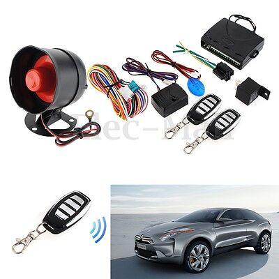 Car Central Door Lock Keyless Entry System Remote Control Kit 1 Way Alarm Siren