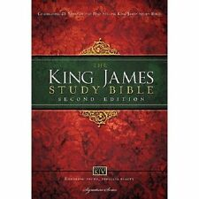 KJV Study Bible, Large Print, Hardcover, Red Letter Edition: Second Edition, Tho