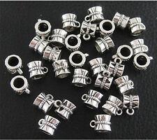 100pcs Tibetan Silver Connectors Bails Fit Charm European Beads Bracelet Bangle