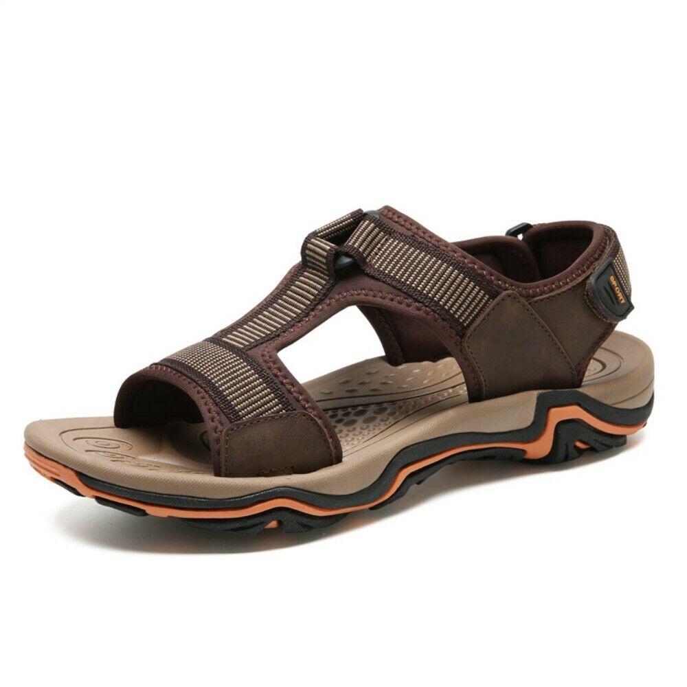 Dimensione 6-12 Mens Open Toe T-Strap Summer Sport Seals Open Toe Non-slip sautope