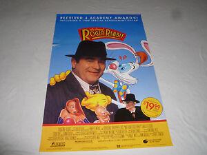 image is loading vintage who framed roger rabbit movie poster original - Who Framed Roger Rabbit Movie