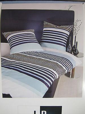 Bettwaren, -wäsche & Matratzen FleißIg Janine Mako Satin Bettwäsche 140x220 Bettgarnitur Streifen Dessin Blau Baumwolle Schnelle WäRmeableitung