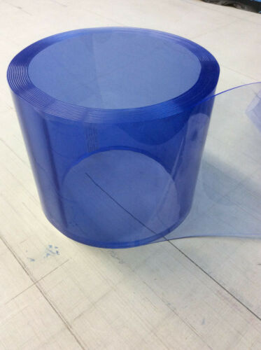 Lamellenvorhang Rollenware Weich PVC   300 x 2 x 50 m blautransparent