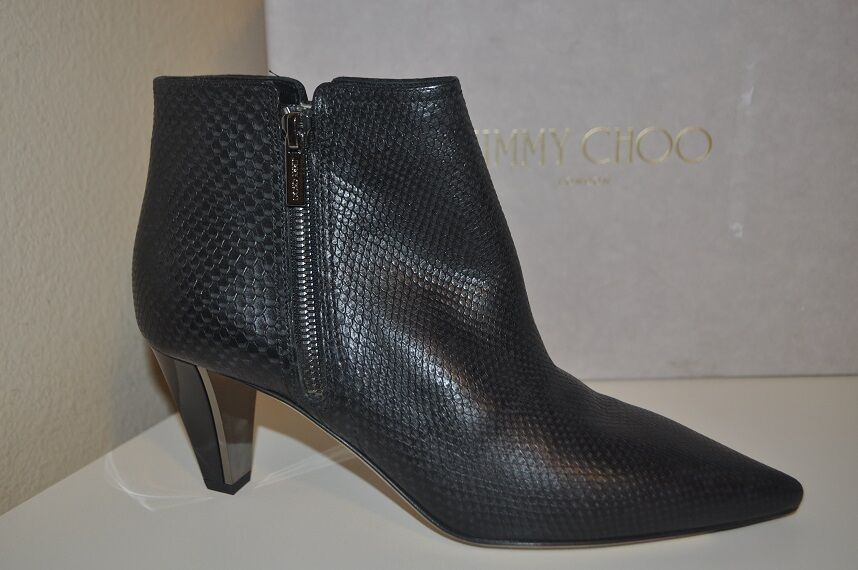 NEW  1,175+ Jimmy Choo LOWRY LOWRY LOWRY Black Leather Ankle Bootie Boot Heels shoes 40   9.5 3c6a1b