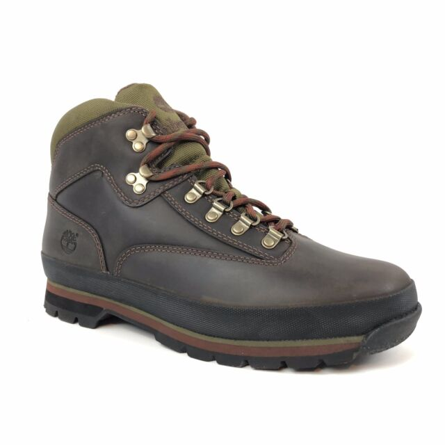 acabe8a7064 Timberland Men's Euro Hiker Brown Leather Ankle Shoes Boots Style 6534A
