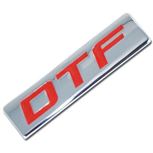 CHROME//RED METAL DTF ENGINE RACE MOTOR SWAP BADGE FOR TRUNK HOOD DOOR