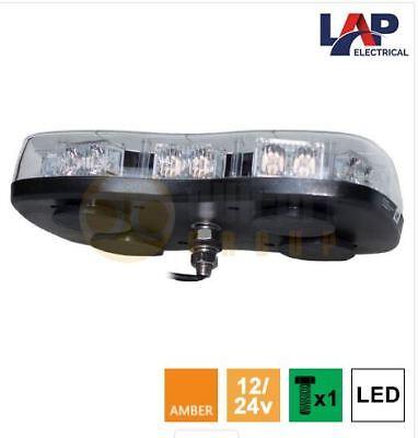 LAP 1220 LED Magnetic Mount Amber 300mm Mini Lightbar Warning Beacon 12//24V