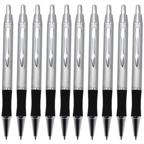 10 Stück Metallkugelschreiber Kulis Kugelschreiber Grossraummine Farbe silber