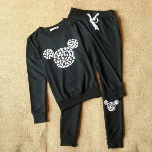 2Pcs Set Womens Tracksuit Sport Wear Sweat Suit Hoodie Sweatshirt Pants Casual