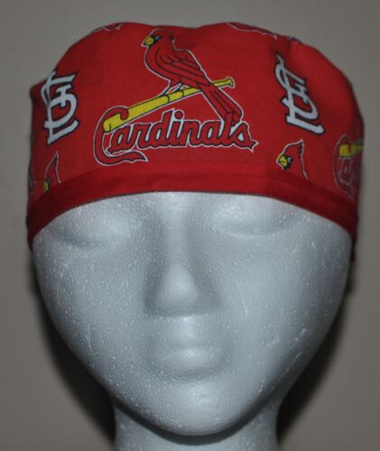 One Size Fits Most Men/'s MLB St Louis Cardinals Scrub Cap//Hat