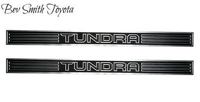 NEW OEM TOYOTA TUNDRA CREW MAX BLACK & PLATINUM DOOR SILL PROTECTORS 2 PIECE SET