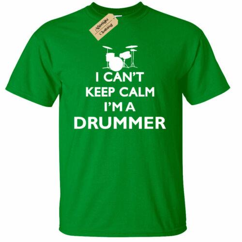 KIDS BOYS GIRLS Drummer Keep Calm T-Shirt Funny drumming gift musician band