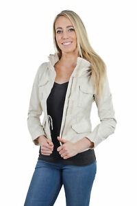 Women-039-s-Juniors-Anorak-Safari-Hoodie-Long-Sleeve-Jacket