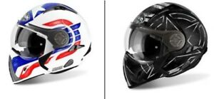 Airoh J106 Moto Modulable Casque Modulable Avec Extra Large Vision